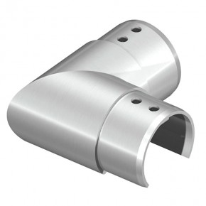 Nutrohrverbinder Ø42,4mm 90° eckig Horizontal A2 Korn240