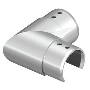 Nutrohrverbinder Ø42,4mm 90° eckig Horizontal A4 Korn240