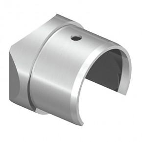 Nutrohranschlussstück Ø42,4mm 90° Aufnahme Ø42,4mm A2 Korn240
