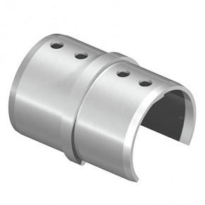 Nutrohrverbinder Ø42,4mm 180° eckig Horizontal A2 Korn240