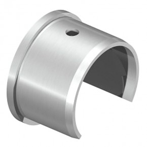 Nutrohrendkappe Ø42,4mm flach A2 Korn240