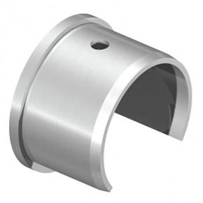 Nutrohrendkappe Ø42,4mm flach A4 Korn240