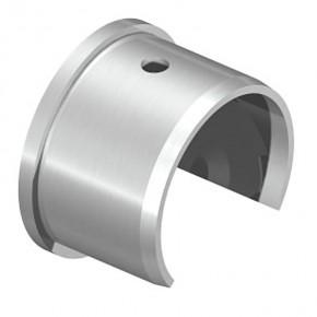 Nutrohrwandanschluss Ø42,4mm Bohrung Ø8,5mm A4 Korn240
