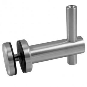 Handlaufträger für Glas Ø45mm mit Innengewinde M6 starr mit Ø14mm A2 Korn240