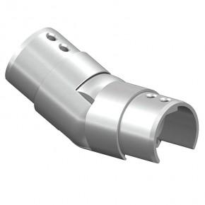 Nutrohrverbinder Ø42,4mm Treppen Aufgang variabel A2 Korn240