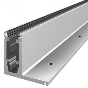 Systemprofilset Aufsatzmontage seitliche Lasche VSG17,52mm L=5m