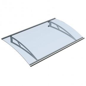 Vordach, 1500x900mm, 2 Edelstahlschwerter, 2 Aluminium Profile,