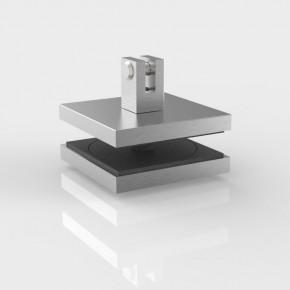 Punkthalter 80x80x37mm ohne Fase 1Gabel starr VSG21,52mm A2