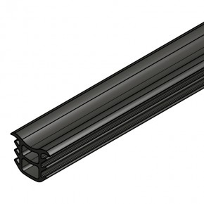 Dichtprofil Vordach VSG12 L=2,5m KU schwarz
