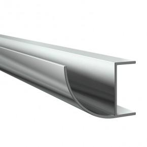 Regenrinne VSG21,52mm rund L=6m Alu Edelstahloptik