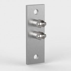 Wandhalter oben 150x50x33mm 1Gabel starr 1Gabel drehbar 2xØ13mm Vertikal A2
