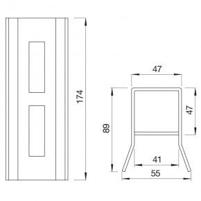 Anschlagkasten Schiebetorschloss B=40mm