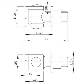 Torband M24 mit Einschweißmutter und U-Bügel