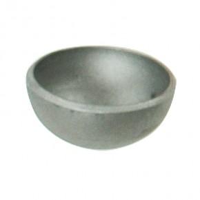 Halbkugel für Rohr Ø42,4mm s=2,5mm Stahl roh