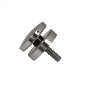 Punkthalter Ø52x12mm erhaben oval Flach M10 A2