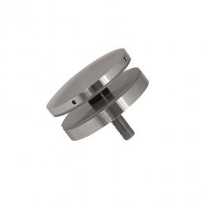 Punkthalter Ø72x12mm erhaben oval Flach M10 A2