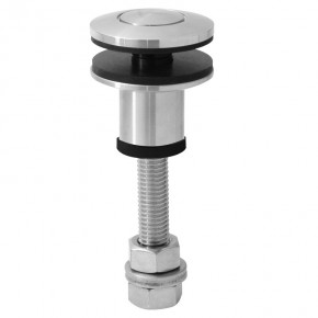 Punkthalter Ø45mm erhaben oval M12 starr A4