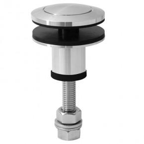 Punkthalter Ø60mm erhaben oval M12 starr A4