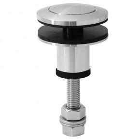 Punkthalter Ø60mm erhaben oval M12 beweglich A4