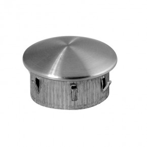 Endkappe Ø48,3x2,0-2,6mm oval hohl A4 Korn240