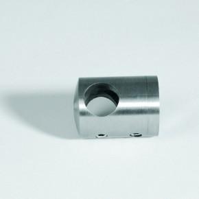 Querstabhalter Mitte Ø22mm für Ø10mm an Vierkantrohr A2