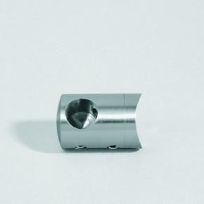 Querstabhalter Links Ø22mm für Ø12mm an Ø42,4mm A2