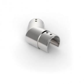 Nutrohrverbinder Ø42,4mm 135° eckig Horizontal A2 Korn240