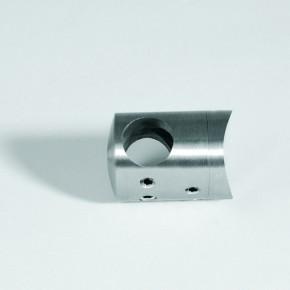 Querstabhalter Mitte Stoßen Ø22mm für Ø12mm Flach A2