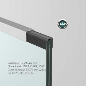 Elastomerprofil für Kantenschutzprofil 5020, für 12,76mm Glas