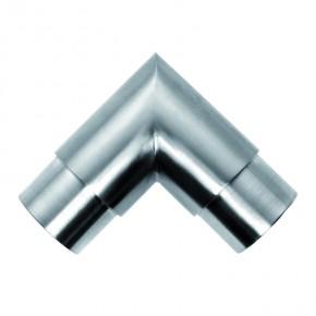 Rohrverbinder 90° Ø42,4x2,0mm eckig A2