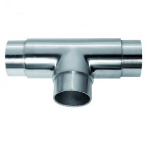 Rohrverbinder T-Stück 3x Ø42,4x2,0mm A2