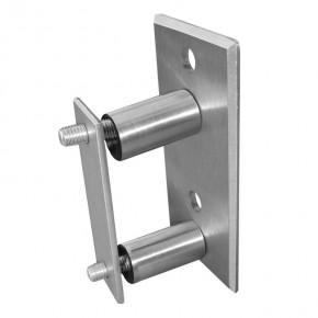 Pfostenhalter Vierkant-Rohr 120x60x6mm Klemmplatte innen A2