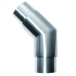 Rohrverbinder 135° Ø42,4x2,0mm eckig A2
