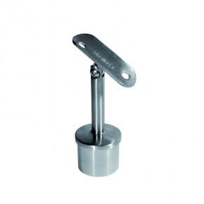 Handlaufträger für Ø33,7x2,0mm H=78mm hohl variabel A2