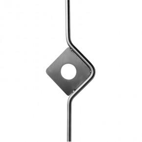 Stab Ø12mm Zierteil 110x150mm Karo Bohrung L=1m A2