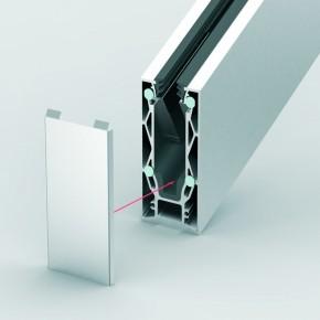 Endkappe Treppe zu 1404E123-17 Aufsatzmontage ohne Lasche VSG17,52links/rechtsA4