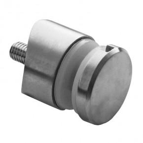Punkthalter Ø30x00mm erhaben Fase R21 M8x40mm A2