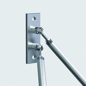 Wandhalter oben 150x50x33mm 2Gabel drehbar oben/unten 2xØ13mm A2