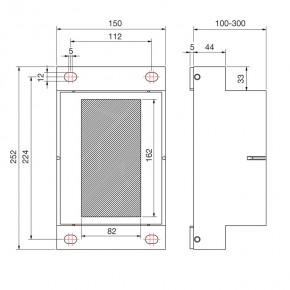 Anschraubplatte für WDVS 240x138mm L=100mm