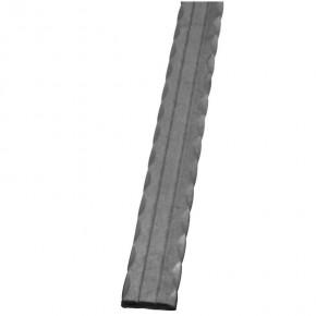 Handlaufkrümmling 40x8mm L=400mm 90° Form 2 Rillen kantengehämmert ST