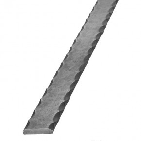 Untergurt 25x8mm beidseitig kantengehämmert L=3m ST