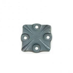 Bodenplatte geschmiedet 95x95x8mm 4x Ø10mm ST