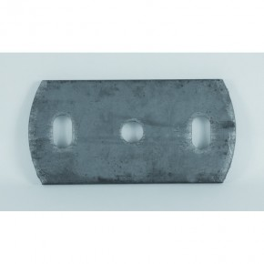 Ronde 120x60x6mm oval Ø12,5mm 2x Ø11x20mm ST