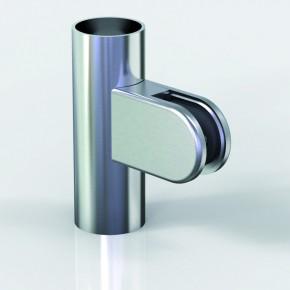 Klemmbefestigung 38x52mm halbrund R20 Glas 8-8,76 ZN Alu-Optik