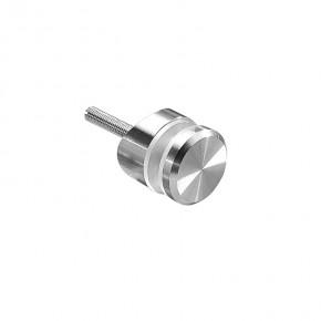 Punkthalter Ø30x12mm erhaben Fase R20 M6 ZN Alu-Optik