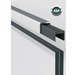 Kantenschutzprofil für 17,52/21,52 mm, Edelstahl V4A K320 geschliffen, L=2500mm