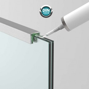 Handlauf-/Kantenschutzprofil für 10,76/11,52 mm, Alu, Edelstahloptik, L = 2150mm