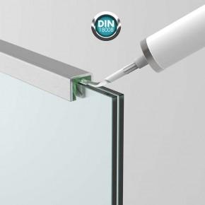Handlauf-/Kantenschutzprofil für 10,76/11,52 mm, Alu, Edelstahloptik, L = 6500mm