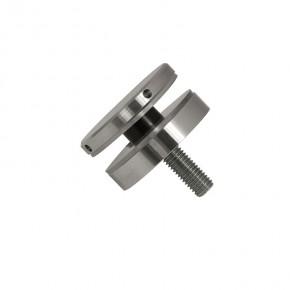 Punkthalter Ø52x12mm erhaben eckig Flach M10 A2