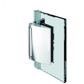 Papillon Glas-Wand 90° selbstschließend ZN Edelstahleffekt